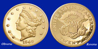 1849 $20 Liberty Tribute Proof