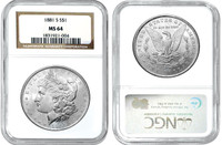 MS64 Morgan Silver Dollars