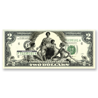 """Science Presenting Steam and Electricity to Commerce and Manufacture"" $2 Silver Certificate Tribute"