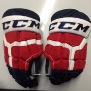 "CCM HG 50PP Pro Stock Custom Hockey Gloves 15"" Rochcester Americans NEW"