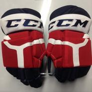 "CCM HG 50PP Pro Stock Custom Hockey Gloves 15"" Rochcester Americans NEW THP"