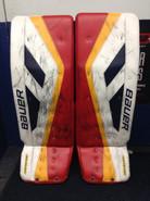 "Bauer NXG TotalOne Goalie Leg Pads McKenna 34+1"" Springfield Thunderbirds AHL Pro Stock"