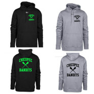 Chicopee Lax Bandits Under Armour Hustle Hoodie Big Back Logo