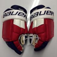 "Bauer E-Pro Custom Hockey Gloves Pro Stock 15"" Wide NHL Girardi NY Rangers used (7)"