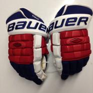 """Bauer Nexus 1000 Pro Stock Custom Hockey Gloves 15"""" NY Rangers Stepan used (4)"""
