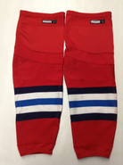 CCM EDGE CUSTOM HOCKEY SOCKS SPRINGFIELD THUNDERBIRDS RED PRO STOCK AHL LARGE USED