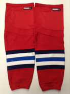 CCM EDGE CUSTOM HOCKEY SOCKS SPRINGFIELD THUNDERBIRDS RED PRO STOCK AHL XL X-LARGE USED