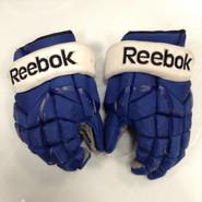"Reebok 11KP Pro Stock Custom Hockey Gloves 14"" Syracuse Crunch AHL used #89"