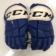 "CCM HGQL Pro Stock Custom Hockey Gloves 14"" Syracuse Crunch AHL used BOURNIVAL"