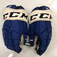 "CCM HGTK Pro Stock Custom Hockey Gloves 14"" Syracuse Crunch  AHL MASIN used"