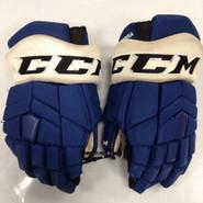 "CCM HGTKPP Pro Stock Custom Hockey Gloves 14"" Syracuse Crunch  AHL TAORMINA used (2)"