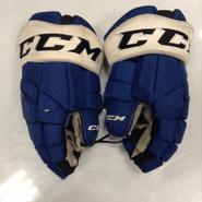 "CCM HGTK Pro Stock Custom Hockey Gloves 14"" Syracuse Crunch  AHL used #92"