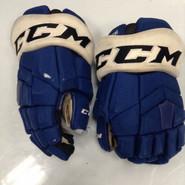 "CCM HGTK Pro Stock Custom Hockey Gloves 14"" Syracuse Crunch  AHL used #26"
