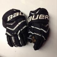 "Bauer Supreme Totalone NXG Pro Custom Pro Stock Hockey Gloves Used Black 14"" NHL"