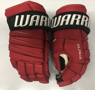 "Warrior Alpha QX Pro Custom Pro Stock Hockey Gloves NJ Devils 14"" NHL"