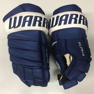 "Warrior Alpha QX Pro Custom Pro Stock Hockey Gloves Toronto Maple Leafs 15"" NHL"