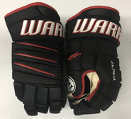 """Warrior Alpha QX Pro Custom Pro Stock Hockey Gloves Chicago Blackhawks 13"""" NHL"""