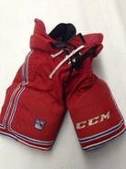 CCM HP UCLP Custom Pro Stock Hockey Pants Red Medium New York Rangers Used