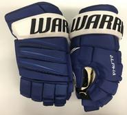 "Warrior Alpha QX Pro Custom Pro Stock Hockey Gloves Tampa Bay Lightning 14"" NHL"