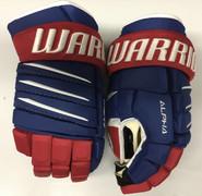 "Warrior Alpha QX Pro Custom Pro Stock Hockey Gloves Montreal Canadiens 13"" NHL"