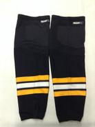 REEBOK EDGE CUSTOM HOCKEY SOCKS BLACK PRO STOCK NHL X-LARGE XL BOSTON BRUINS NEW