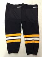 REEBOK EDGE CUSTOM HOCKEY SOCKS BLACK PRO STOCK NHL X-LARGE PLUS XL+ BOSTON BRUINS NEW