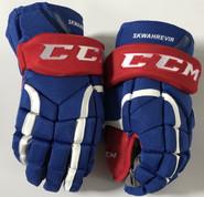 "CCM HG12 Pro Stock Custom Hockey Gloves 13"" UML NCAA NEW"
