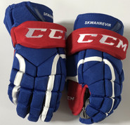 "CCM HG12 Pro Stock Custom Hockey Gloves 15"" UML NCAA NEW"