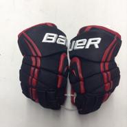"Bauer Vapor APX Pro Stock Custom Hockey Gloves 12"" NE Huskies New"