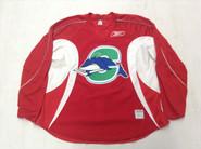 Reebok Edge 2.0 Custom Pro Stock Hockey Practice Jersey CT Whale Red 58+
