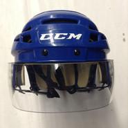 CCM VECTOR V08 PRO STOCK HOCKEY HELMET ROYAL BLUE SMALL NEW YORK RANGERS NHL