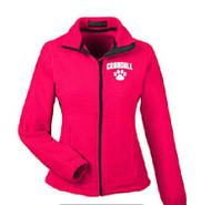 Prudence Crandall Ultra Club Women's Full Zip Fleece RED