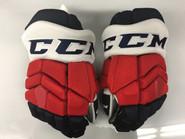 "CCM HGTKPP Pro Stock Custom Hockey Gloves 14"" Rochester Americans AHL"