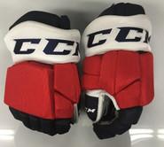 "CCM HGTKPP Pro Stock Custom Hockey Gloves 15"" Rochester Americans AHL THP"