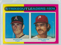1975 Topps Baseball 312 Strikeout Leaders Excellent to Mint