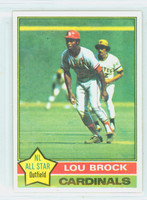 1976 Topps Baseball 10 Lou Brock St. Louis Cardinals Near-Mint Plus