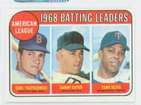 1969 Topps Baseball 1 AL Batting Leaders Excellent to Excellent Plus