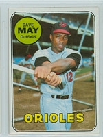 1969 Topps Baseball 113 Dave May Baltimore Orioles Near-Mint to Mint