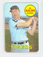 1969 Topps Baseball 410 Al Kaline Detroit Tigers Excellent to Mint