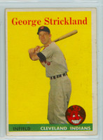 1958 Topps Baseball 102 George Strickland Cleveland Indians Excellent