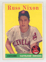 1958 Topps Baseball 133 Russ Nixon Cleveland Indians Excellent to Mint