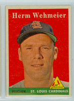 1958 Topps Baseball 248 Herm Wehmeier St. Louis Cardinals Excellent to Excellent Plus