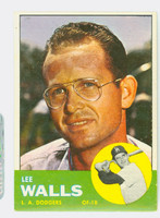 1963 Topps Baseball 11 Lee Walls Los Angeles Dodgers Excellent