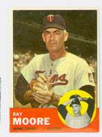 1963 Topps Baseball 26 Ray Moore Minnesota Twins Excellent