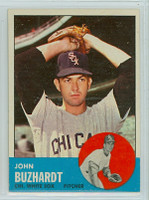 1963 Topps Baseball 35 John Buzhardt Chicago White Sox Excellent to Mint