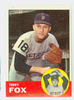 1963 Topps Baseball 44 Terry Fox Detroit Tigers Excellent