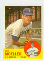1963 Topps Baseball 53 Joe Moeller Los Angeles Dodgers Excellent to Mint