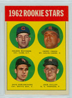 1963 Topps Baseball 54 Rookie Stars 1962  Excellent to Mint