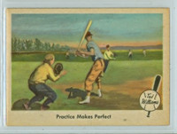 1959 Fleer Ted Williams 3 Practice Makes Perfect Excellent