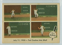 1959 Fleer Ted Williams 40 Crashes into Wall Near-Mint Plus